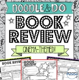 Doodle Book Report Book Review for any book! Cinema Themed!