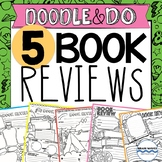 Doodle Book Report Templates - 5 Doodle Book Reviews for A