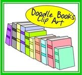 Doodle Books Clip Art