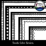 Doodle Color Borders Clipart