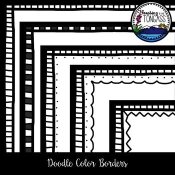 b093e9903acc Doodle Color Borders Clipart Doodle Color Borders Clipart