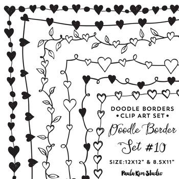 Doodle Border Set #10