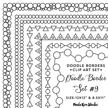 Doodle Border Set #9