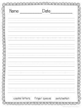 Doodle Border Stationery for Writer's Workshop