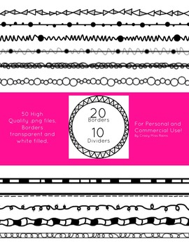 Doodle Border/Frame and Divider Pack of 30 Designs!