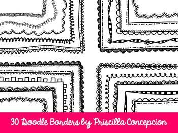 30 Doodle Borders