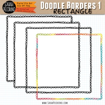 Doodle Borders 1 - RECTANGLE
