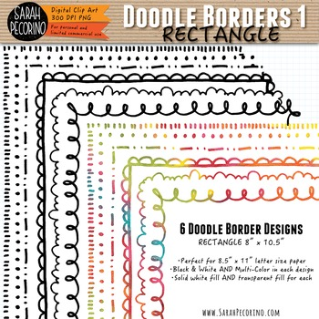 Doodle Borders 1 - RECTANGLE