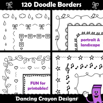 Doodle Borders and Frames Clip Art