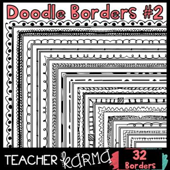 Doodle Borders #2 {32 Graphics}