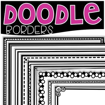 Doodle Borders {Cutie Clips Clipart}