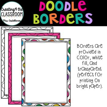 Doodle Borders {Borders Clip Art}