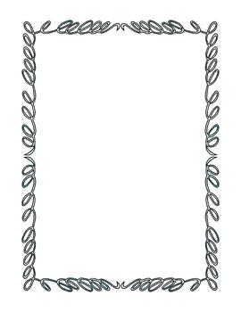 Doodle Borders Clip Art Bundle 1 PNG JPG Blackline Commercial Personal