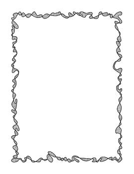 Doodle Borders Clip Art Bundle 2 PNG JPG Blackline Commercial Personal