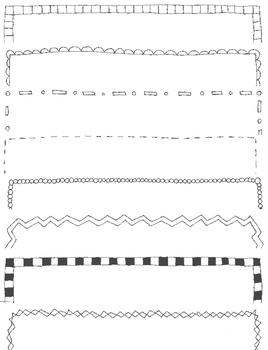Doodle Borders Clip Art Pack 2:  28 PNGs