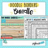 Doodle Borders Clipart Bundle