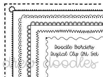 Doodle Borders Digital Clip Art Set