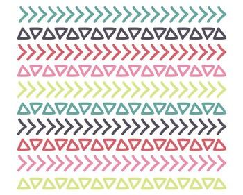 Doodle Borders, Digital Clipart, Doodle Clipart Set #009