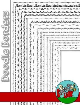 Doodle Borders / Frames 2 - Skinny