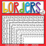 Doodle Borders & Frames Clip Art Square and Rectangular