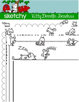Doodle Borders / Frames Cats / Kittens
