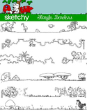 Doodle Borders / Frames Jungle Theme