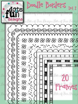Doodle Borders & Frames Set 2 ~Dots of Fun Designs~