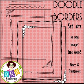 Doodle Borders/Frames Set 2 {Graphics for Commercial Use}