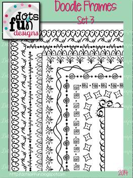 Doodle Borders & Frames Set 3 ~Dots of Fun Designs