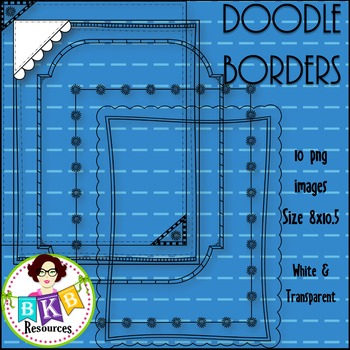 Doodle Borders/Frames Set #9 {Graphics for Commercial Use}
