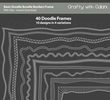 Doodle Borders Frames in Basic shape and white color for Commercial Use