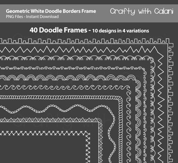 Doodle Borders Frames in geometric shape and white color for Commercial Use