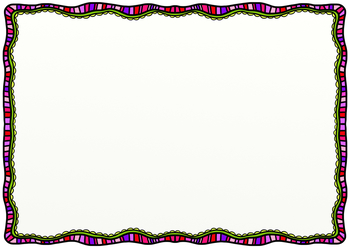 Doodle Borders Hand Drawn Clipart Background Page Decorations