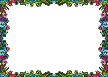 Doodle Borders - Hand Drawn Nature Clip Art Page Decorations