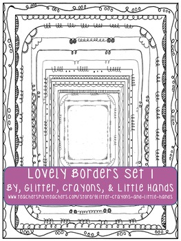 Doodle Borders: Lovely Borders Set 1