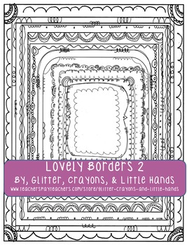 Doodle Borders- Lovely Borders Set 2