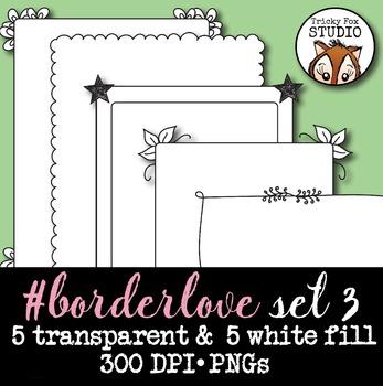 Doodle Borders Set 3: #borderlove