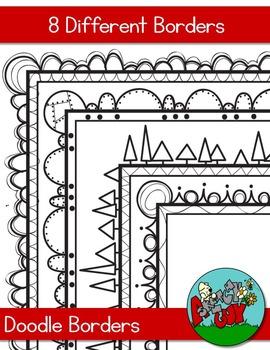 Doodle Borders - Skinny
