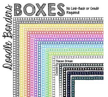 Doodle Borders: Small Boxes Clip Art Frames