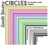 Doodle Borders: Small Circles Clip Art Frames