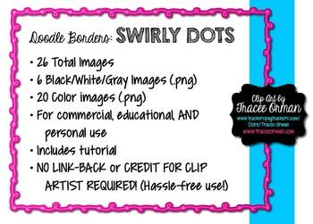 Doodle Borders: Swirly Dots Clip Art Frames