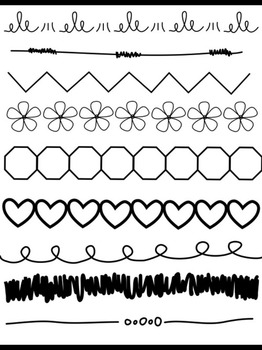 Doodle Borders for Commercial and Personal use