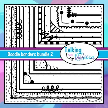 Doodle Borders set 2