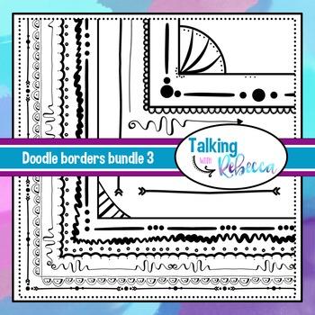 Doodle Borders set 3
