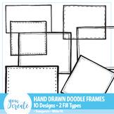Doodle Frames Clip Art | Hand Drawn Boxes | 10 Designs