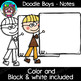 Doodle Boys - Notes Clipart {Scrappin Doodles Clipart}