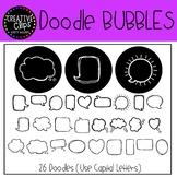 Doodle Bubbles FONT {Creative Clips Clipart}