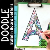 Doodle Bulletin Board Letters for Coloring