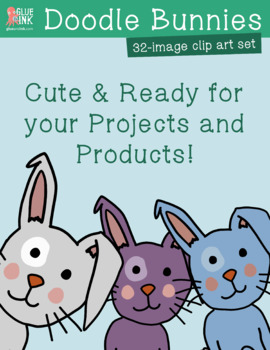 Doodle Bunnies Clip Art – Commercial Use
