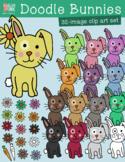 Doodle Bunnies Clip Art – Commercial Use